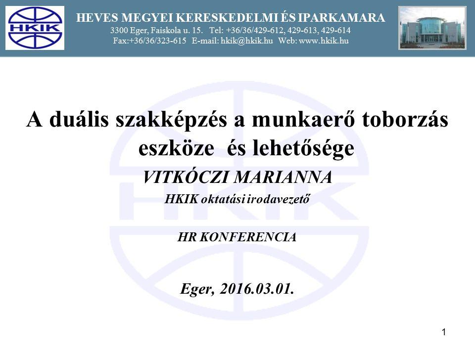 12 HEVES MEGYEI KERESKEDELMI ÉS IPARKAMARA 3300 Eger, Faiskola u.