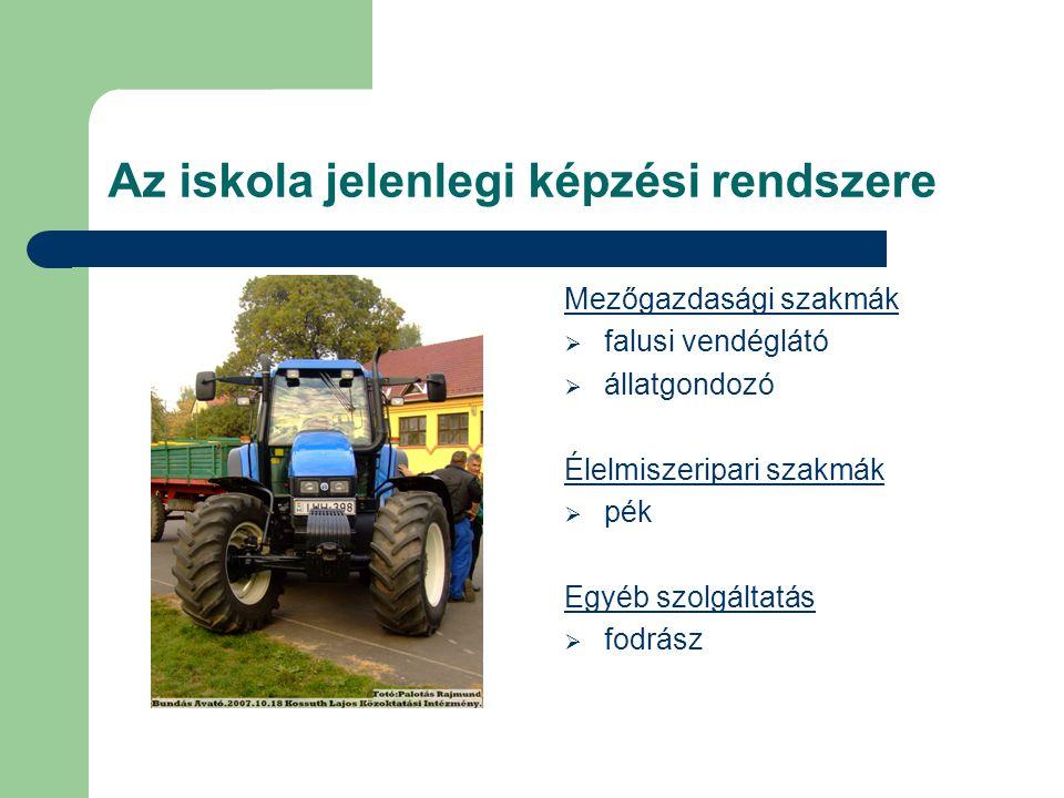 Mezőgazdasági szakmák ffalusi vendéglátó áállatgondozó Élelmiszeripari szakmák ppék Egyéb szolgáltatás ffodrász