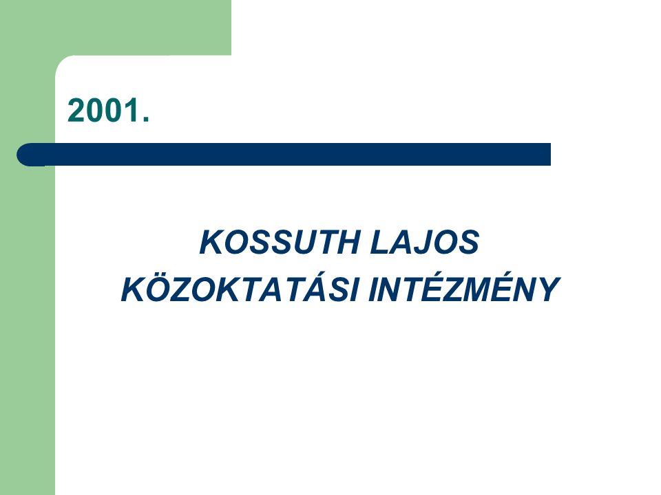 2001. KOSSUTH LAJOS KÖZOKTATÁSI INTÉZMÉNY