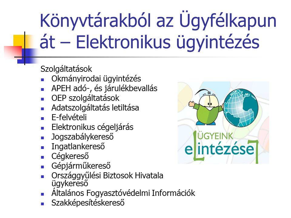 Elektronikus ügyintézés E-közigazgatás, Ügyfélkapu E-közigazgatás: államigazgatási és önkormányzati ügyek elektronikus intézése.