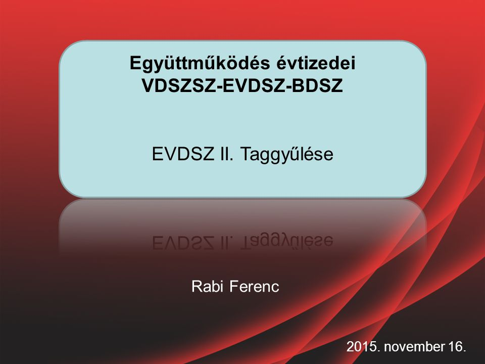 2015. november 16. Rabi Ferenc