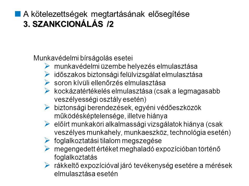 3. SZANKCIONÁLÁS /2  A kötelezettségek megtartásának elősegítése 3.