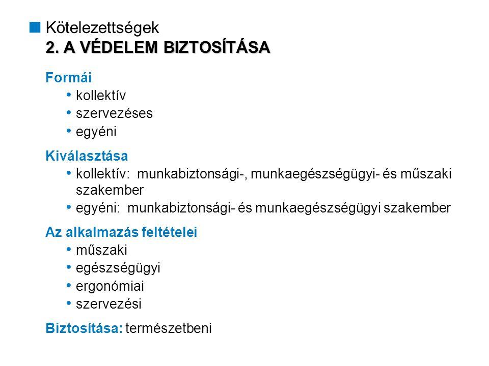 3.SZEMÉLYI FELTÉTELEK BIZTOSÍTÁSA /1  Kötelezettségek 3.