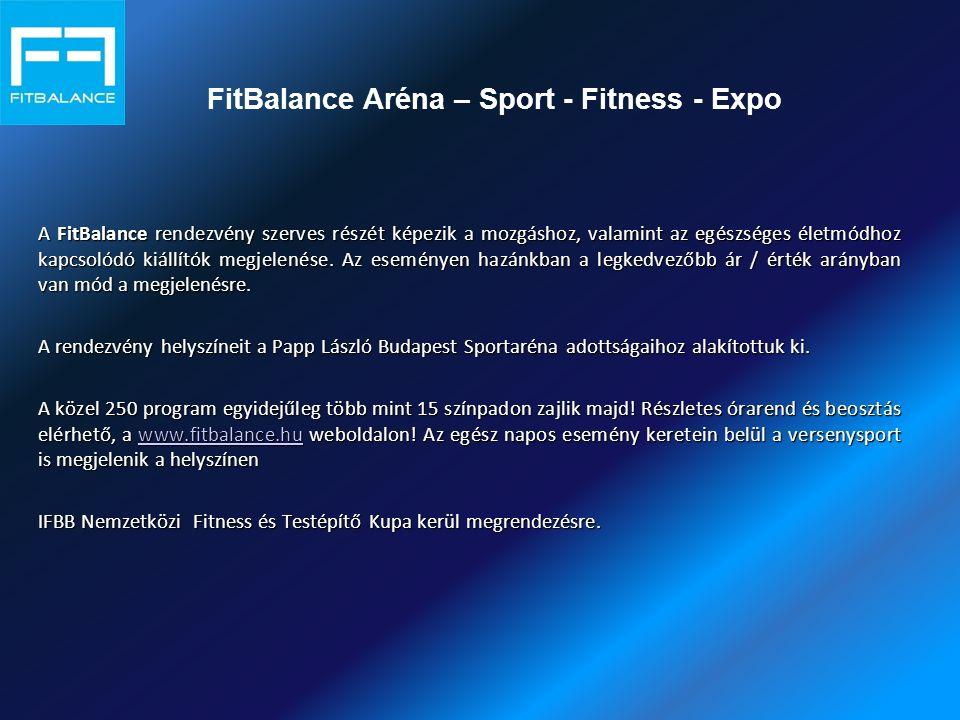 A FitBalance rendezvény szerves részét képezik a mozgáshoz, valamint az egészséges életmódhoz kapcsolódó kiállítók megjelenése.