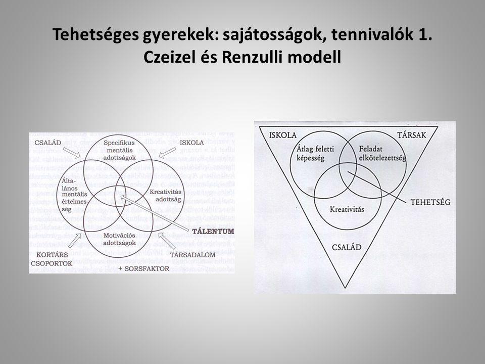 Tehetséges gyerekek: sajátosságok, tennivalók 1. Czeizel és Renzulli modell