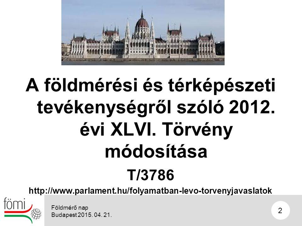 2 A földmérési és térképészeti tevékenységről szóló 2012.