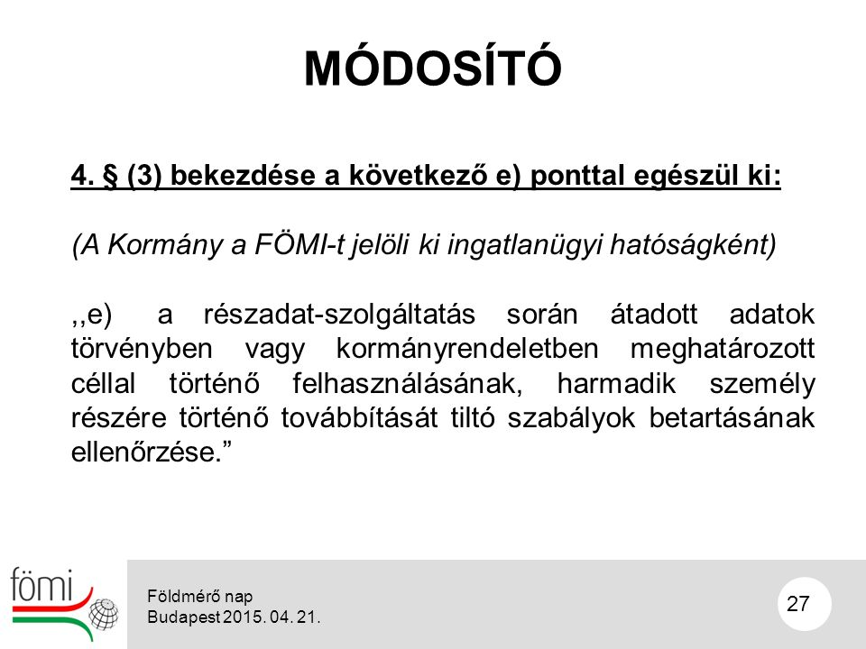 27 MÓDOSÍTÓ 4.