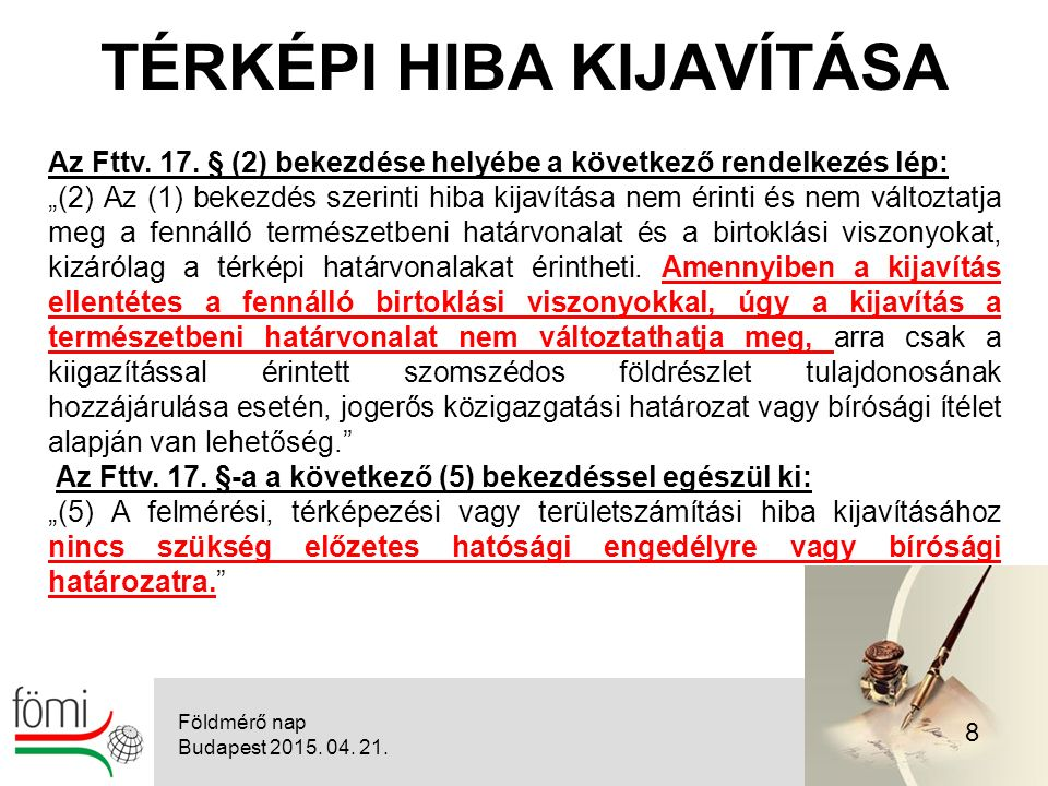 29 KÖZPONTI CÍMREGISZTER Földmérő nap Budapest 2015. 04. 21.