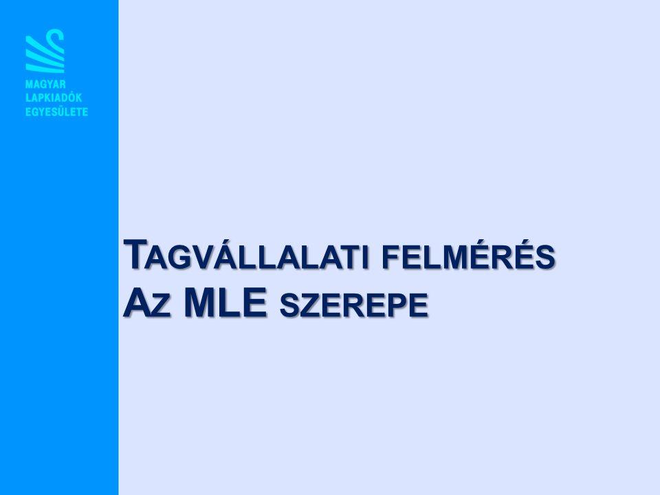 T AGVÁLLALATI FELMÉRÉS A Z MLE SZEREPE