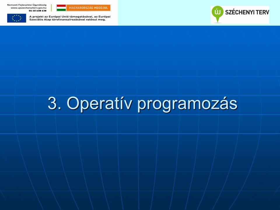 3. Operatív programozás