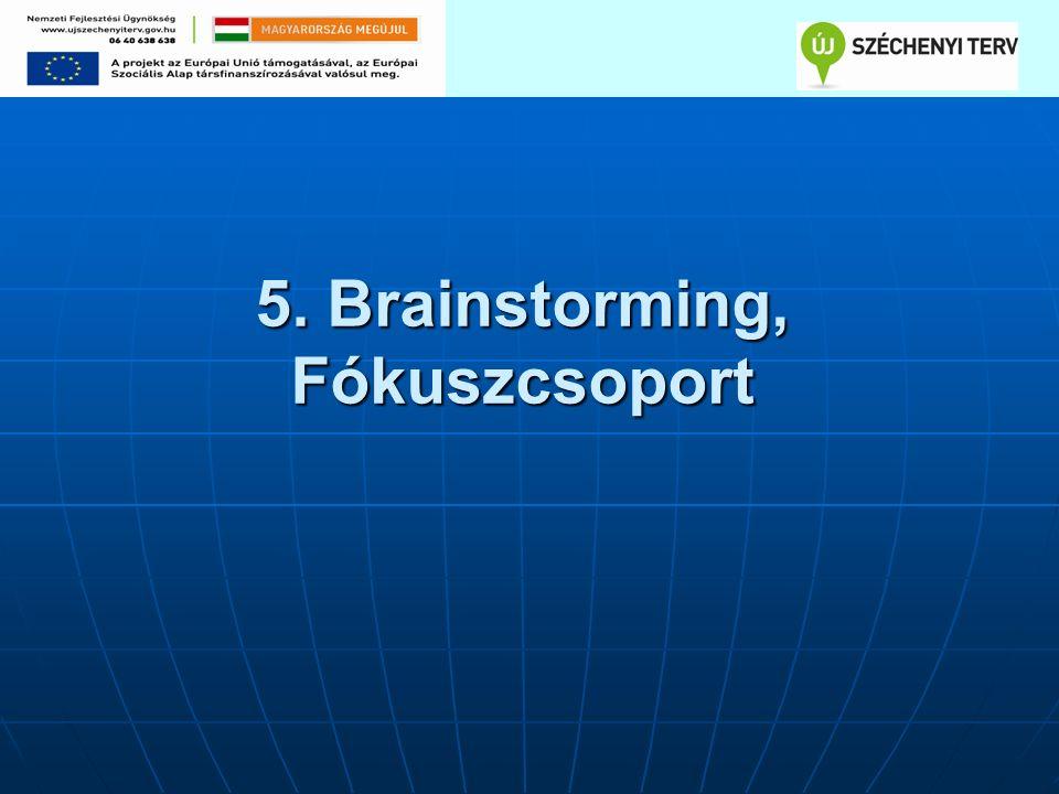 5. Brainstorming, Fókuszcsoport