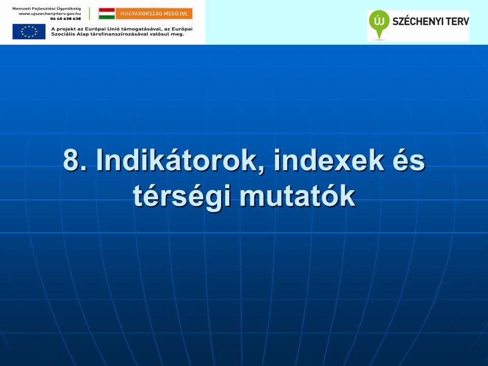 8. Indikátorok, indexek és térségi mutatók