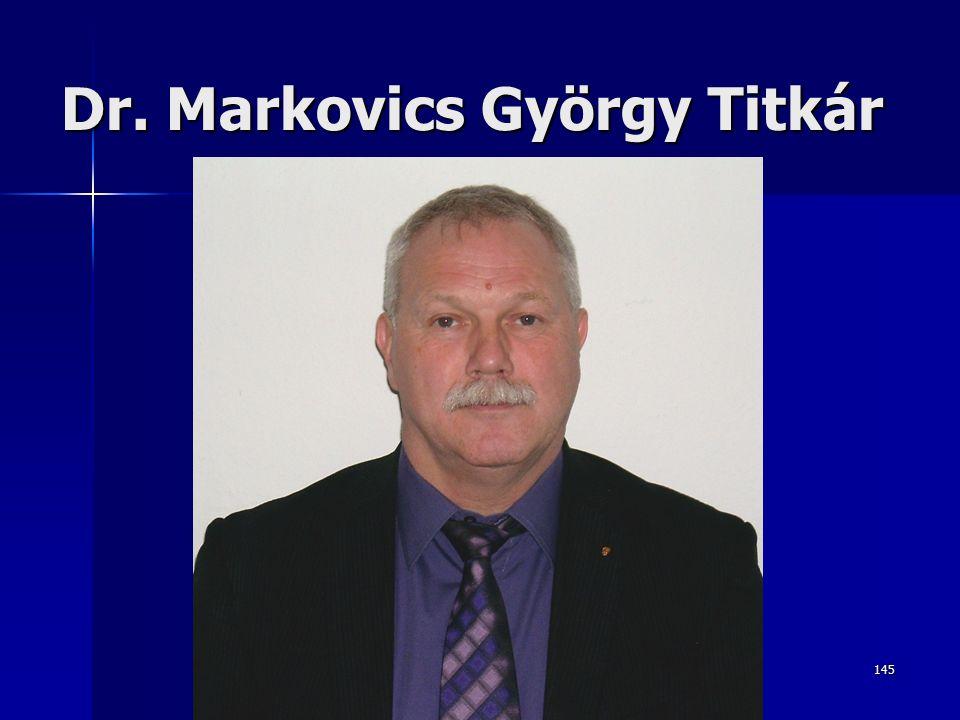145 Dr. Markovics György Titkár