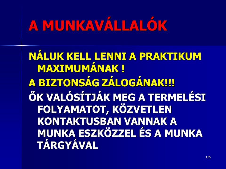 175 A MUNKAVÁLLALÓK NÁLUK KELL LENNI A PRAKTIKUM MAXIMUMÁNAK .