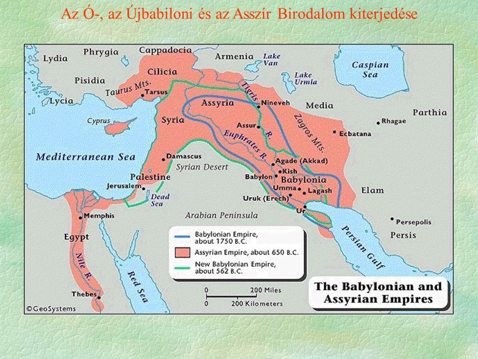 Az Ó-, az Újbabiloni és az Asszír Birodalom kiterjedése
