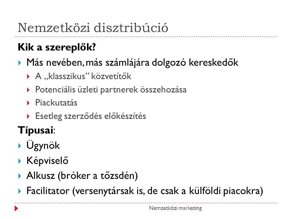 Nemzetközi disztribúció Kik a szereplők.