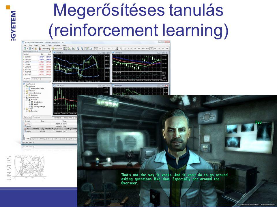 Megerősítéses tanulás (reinforcement learning)
