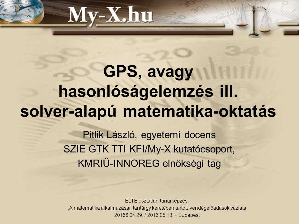 GPS, avagy hasonlóságelemzés ill.