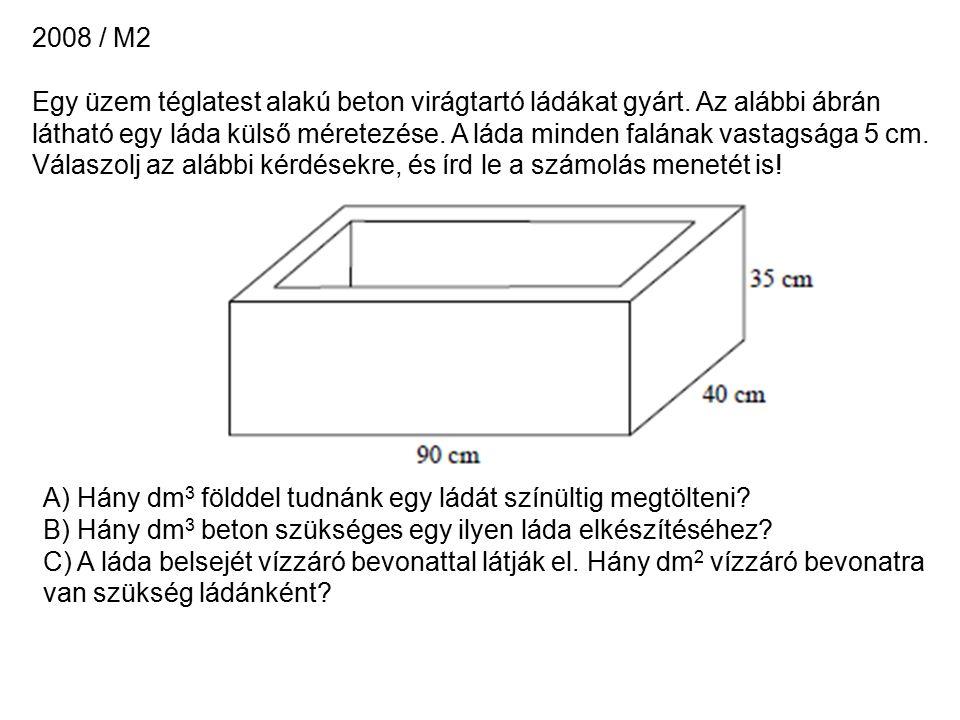 2008 / M2 Egy üzem téglatest alakú beton virágtartó ládákat gyárt.