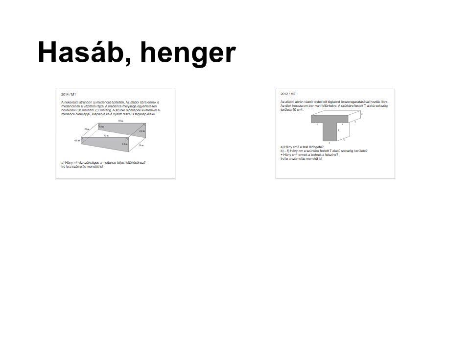 Hasáb, henger