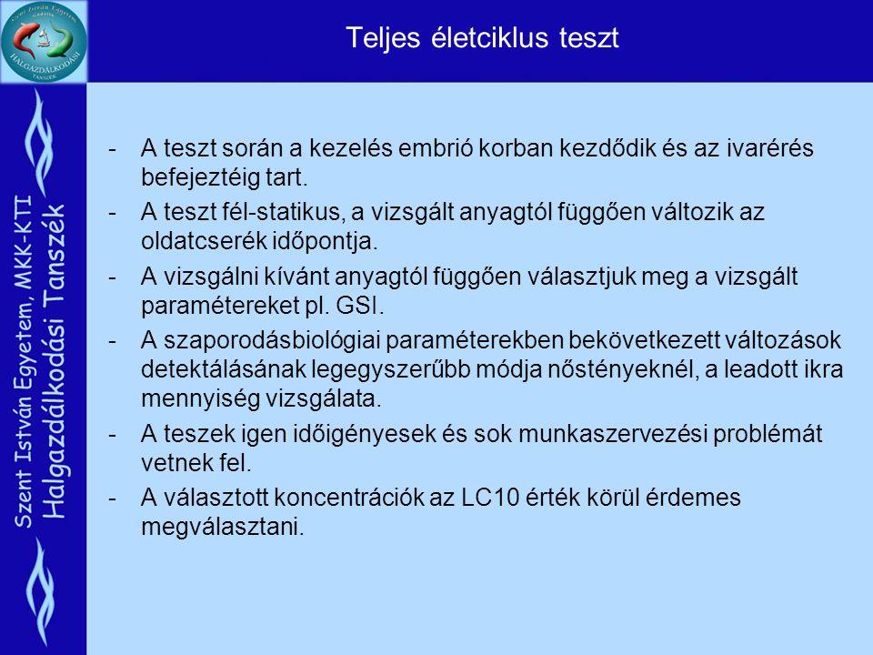 Viselkedés vizsgálatok -A viselkedés vizsgálatok fontos többlet információt szolgáltathatnak az egyes szerek hatásáról a hagyományos ökotoxikológiai vizsgálati eredmények mellett.