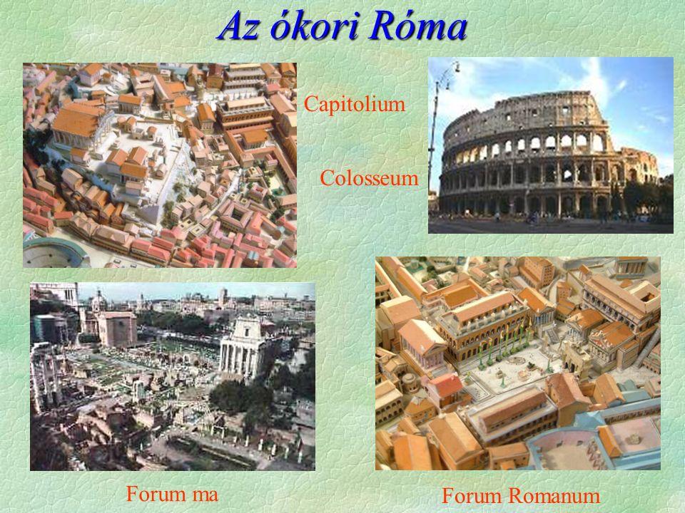Az ókori Róma Forum Romanum Colosseum Capitolium Forum ma