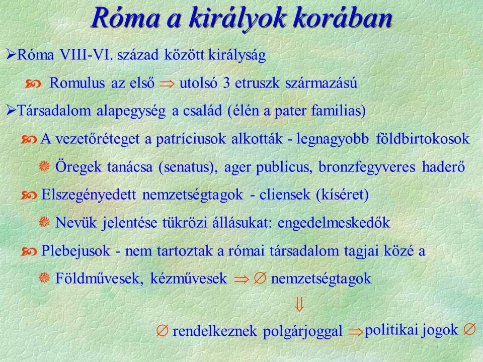  Róma VIII-VI.