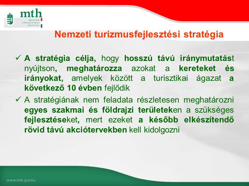 A stratégia célja, hogy hosszú távú iránymutatást nyújtson, meghatározza azokat a kereteket és irányokat, amelyek között a turisztikai ágazat a követk