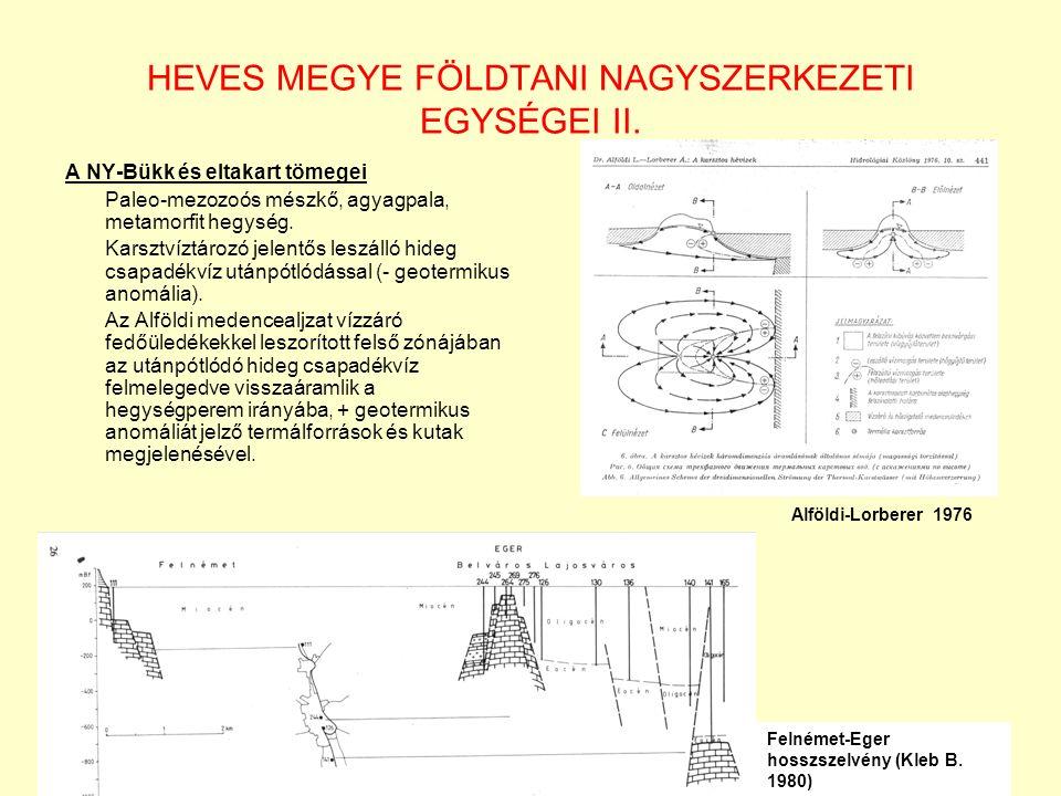 HEVES MEGYE FÖLDTANI NAGYSZERKEZETI EGYSÉGEI II.