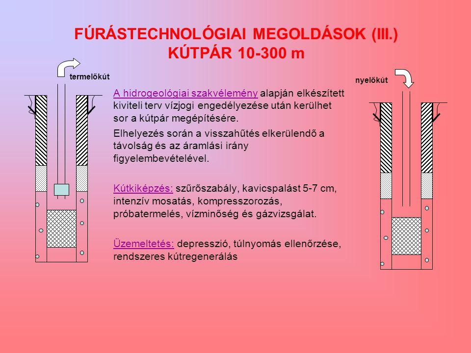 A hidrogeológiai szakvélemény alapján elkészített kiviteli terv vízjogi engedélyezése után kerülhet sor a kútpár megépítésére.