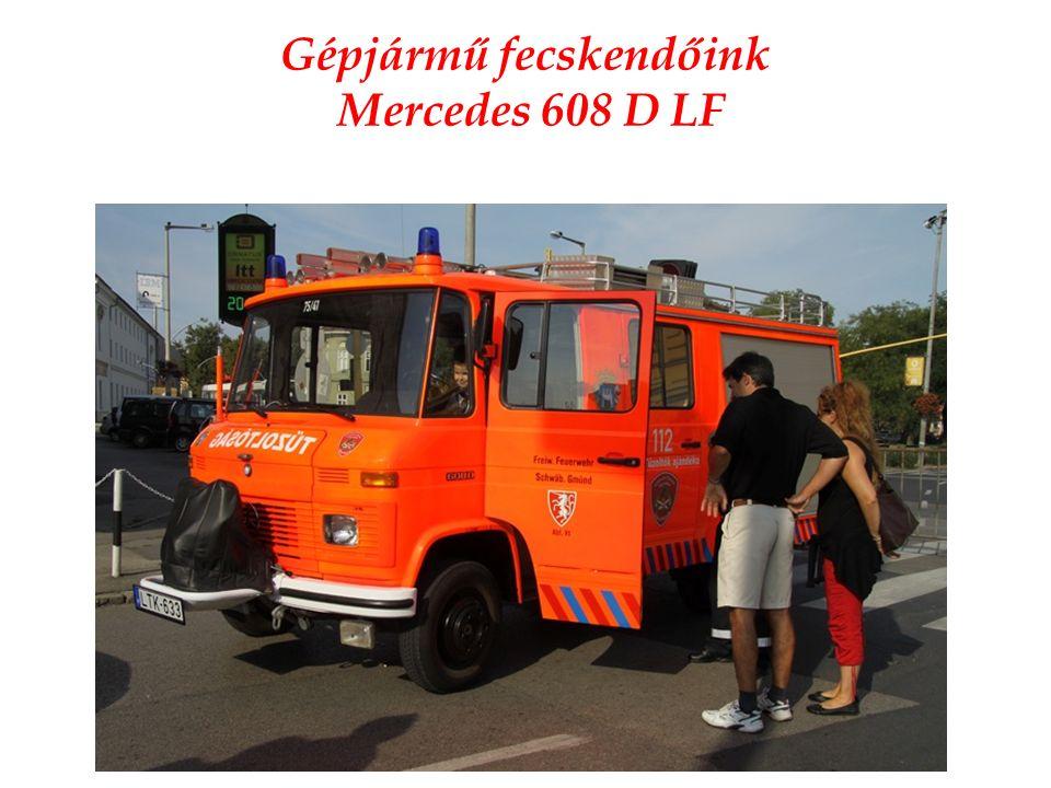 Gépjármű fecskendőink Mercedes 608 D LF