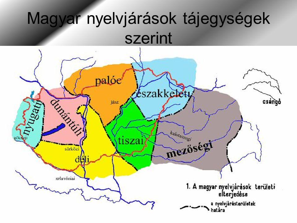Magyar nyelvjárások tájegységek szerint