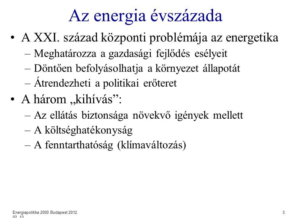 Az energia évszázada A XXI.