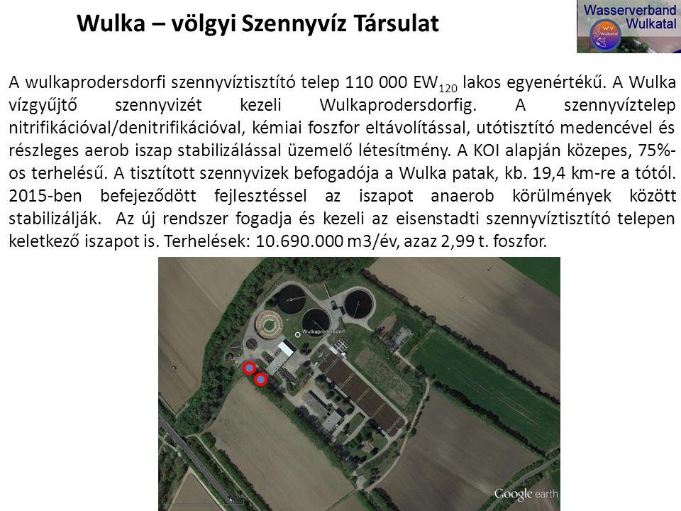 A wulkaprodersdorfi szennyvíztisztító telep 110 000 EW 120 lakos egyenértékű.
