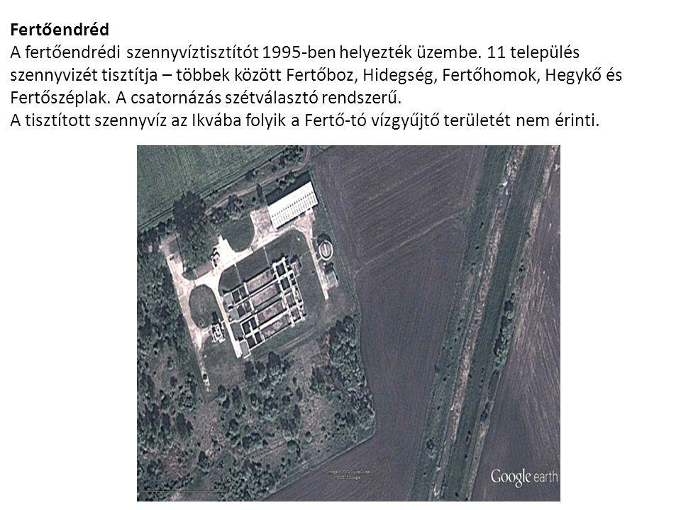 Fertőendréd A fertőendrédi szennyvíztisztítót 1995-ben helyezték üzembe. 11 település szennyvizét tisztítja – többek között Fertőboz, Hidegség, Fertőh