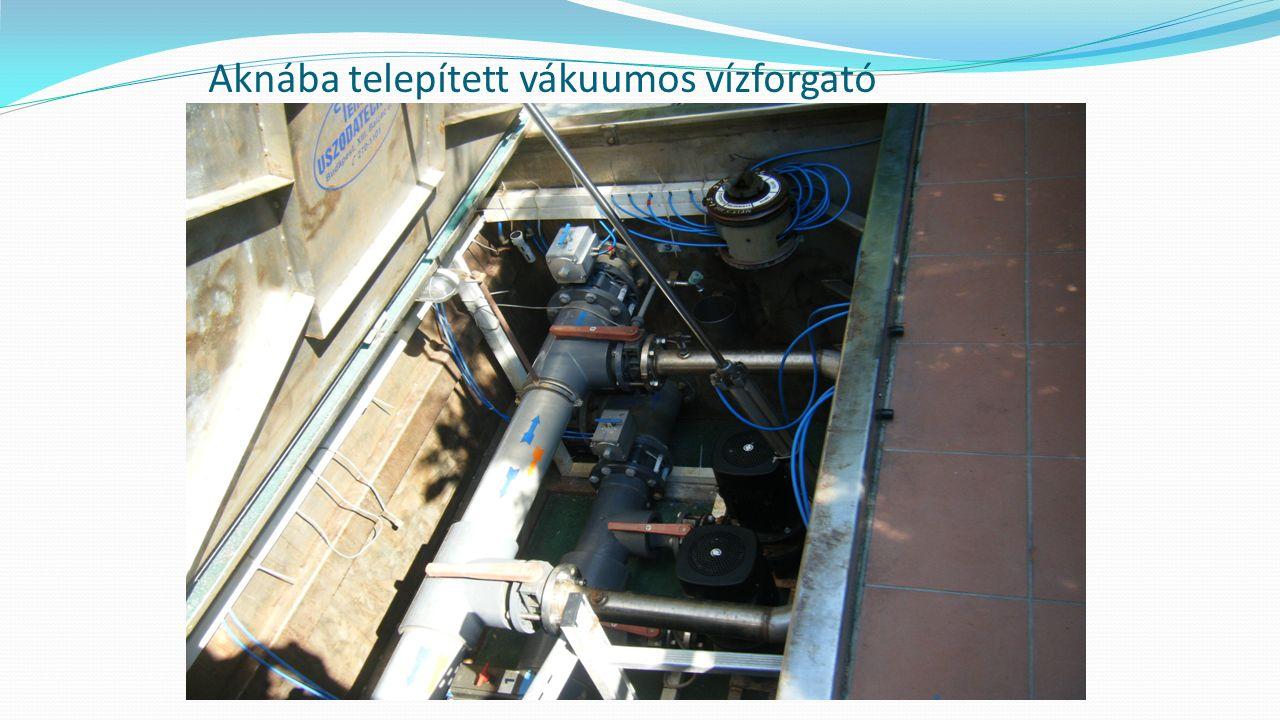 Aknába telepített vákuumos vízforgató