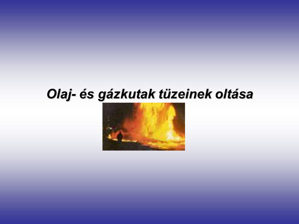Olaj- és gázkutak tüzeinek oltása