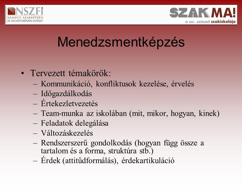 Beruházási és szakmai tervezés támogatása Helyszínek - időpontok: –Szolnoki Szolgáltatási Szakközép- és Szakiskola Ruhaipari Tagintézménye, Szolnok - 2009.