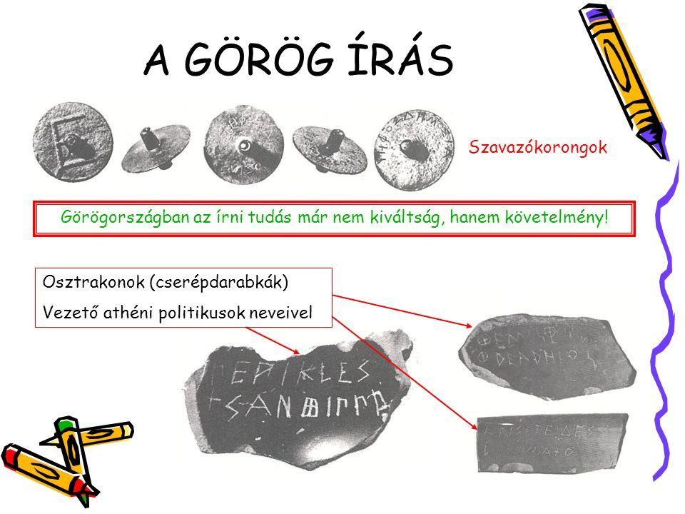 A GÖRÖG ÍRÁS A klasszikus görög ábécé A görög ábécé a főniciaiból alakult ki.