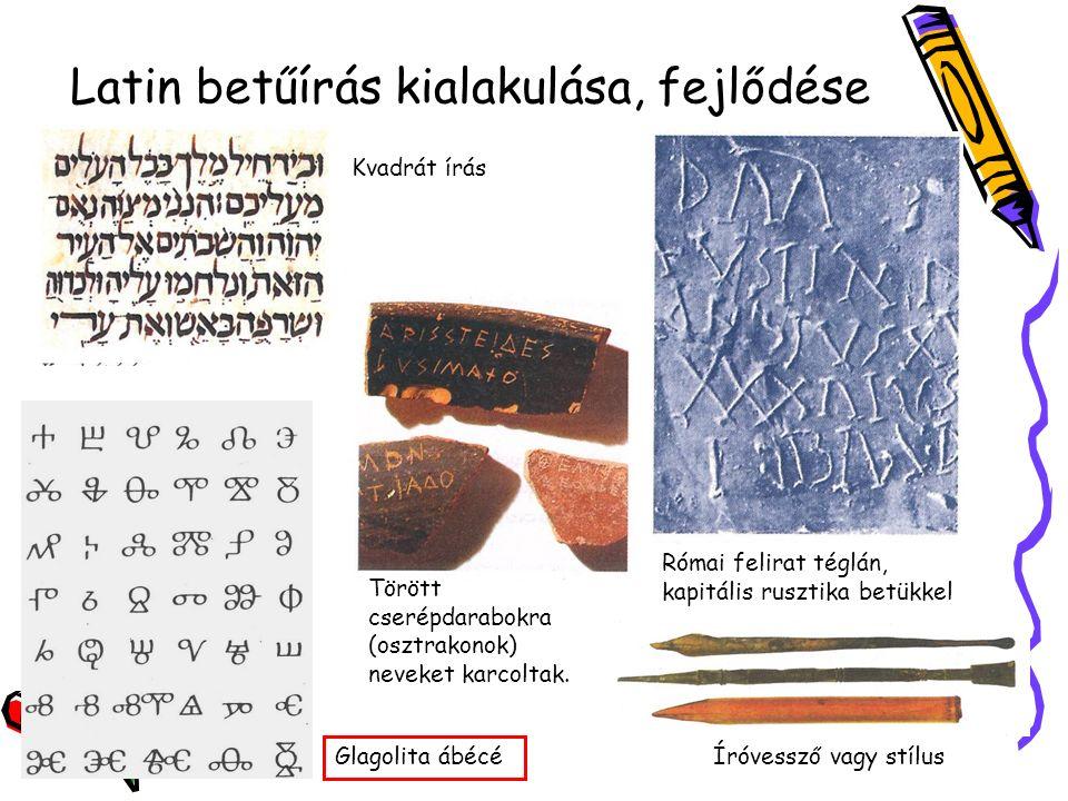 LATIN ÍRÁS 5. Karoling minuszkula (8-9. század) 7.
