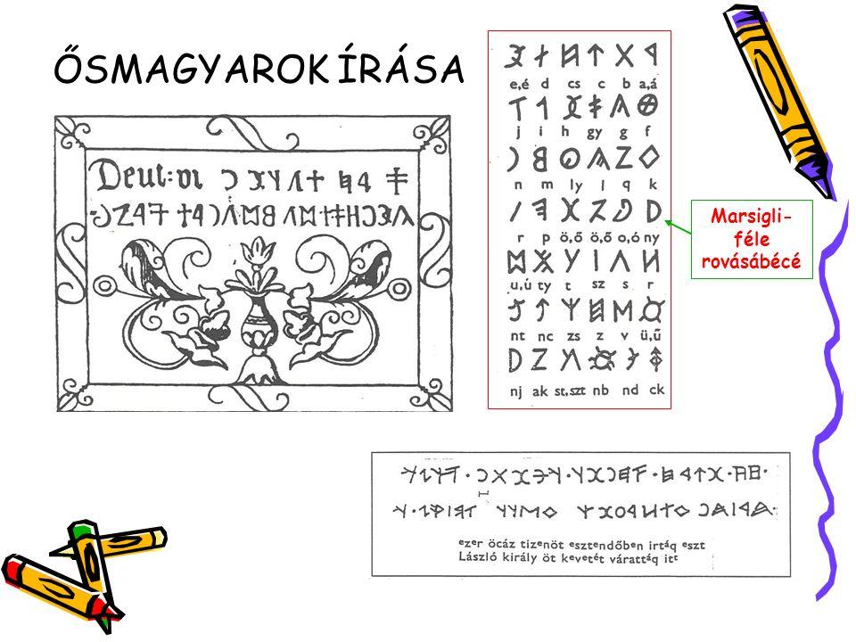 Latin betűírás kialakulása, fejlődése Glagolita ábécé Kvadrát írás Törött cserépdarabokra (osztrakonok) neveket karcoltak.