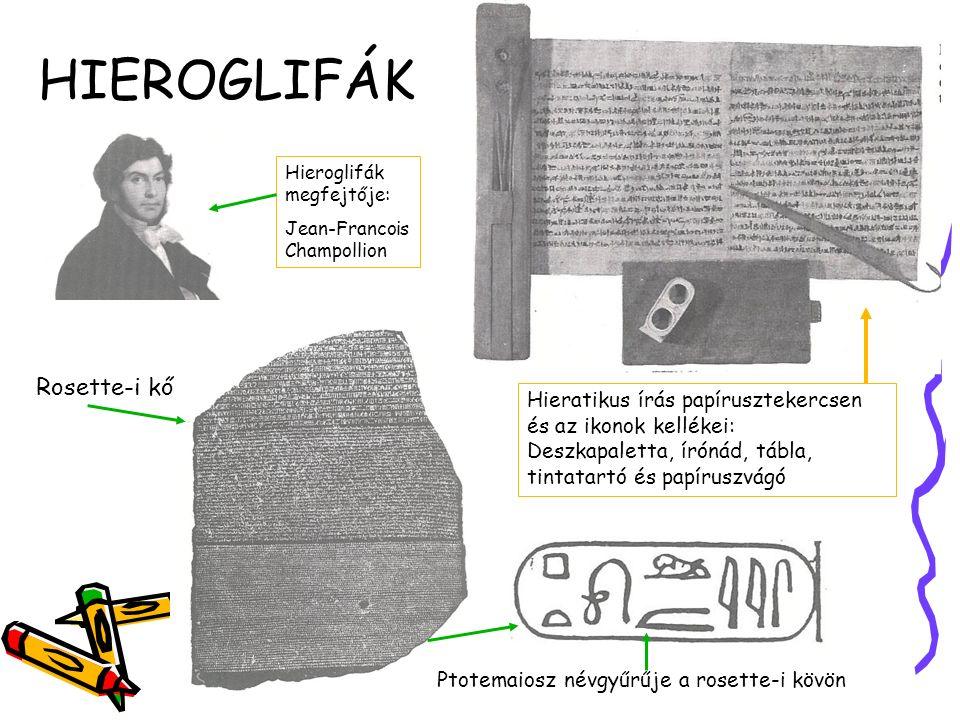 HIEROGLIFÁK A FÁRAÓK FÖLDJÉN