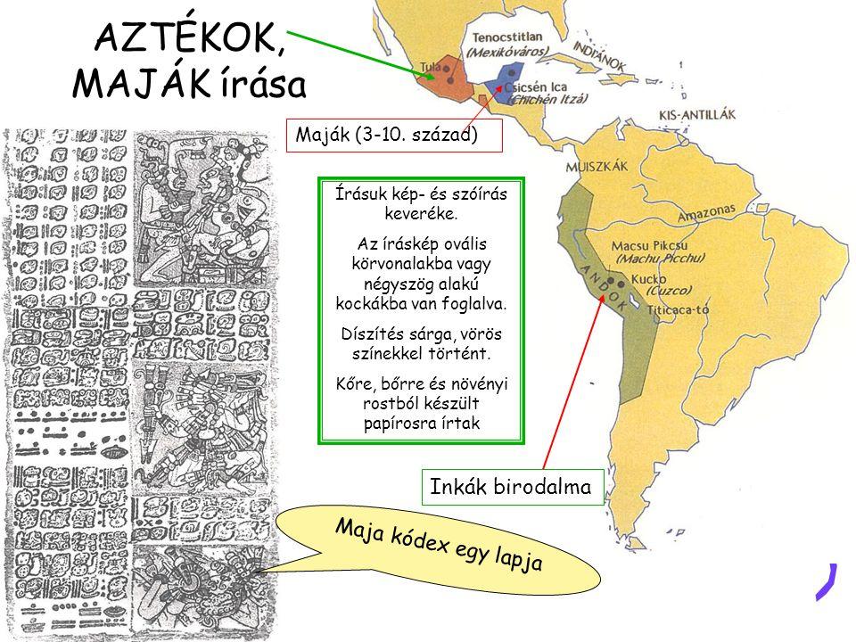 HIEROGLIFÁK Hieratikus írás papírusztekercsen és az ikonok kellékei: Deszkapaletta, írónád, tábla, tintatartó és papíruszvágó Hieroglifák megfejtője: Jean-Francois Champollion Rosette-i kő Ptotemaiosz névgyűrűje a rosette-i kövön