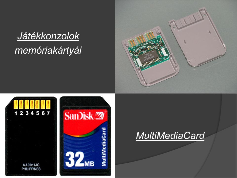 Játékkonzolok memóriakártyái MultiMediaCard