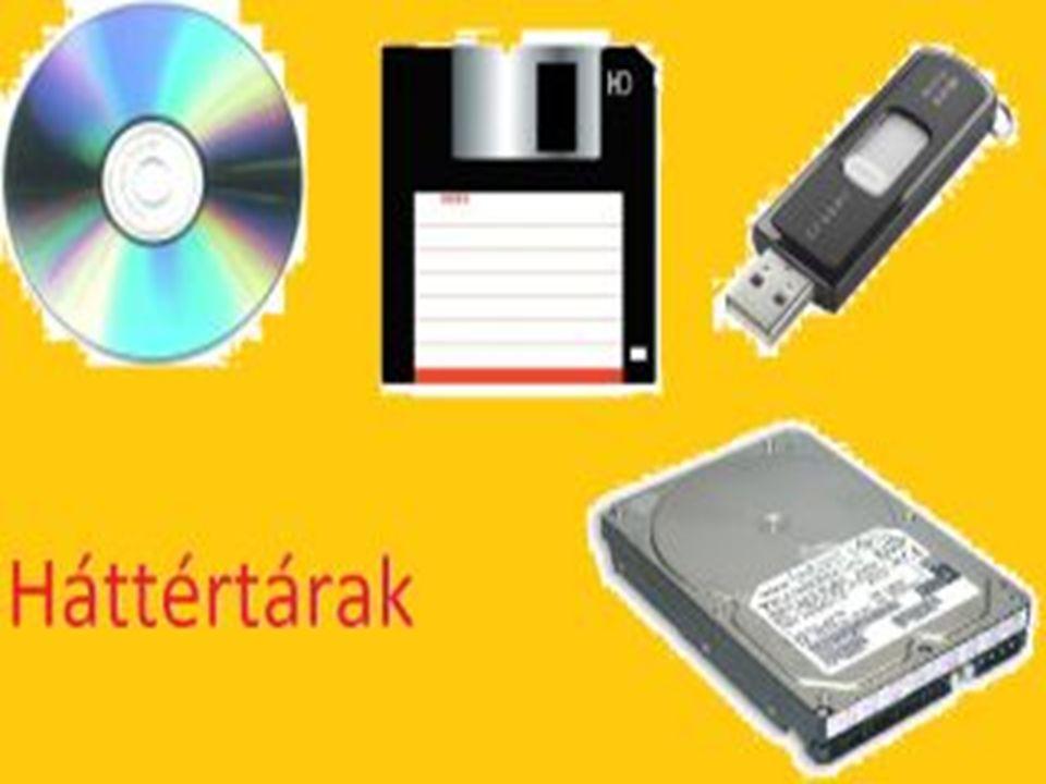 A háttértárolók tulajdonképp ki- és bemeneti eszközök, más néven perifériák amelyek képesek nagy mennyiségű adat tárolására.
