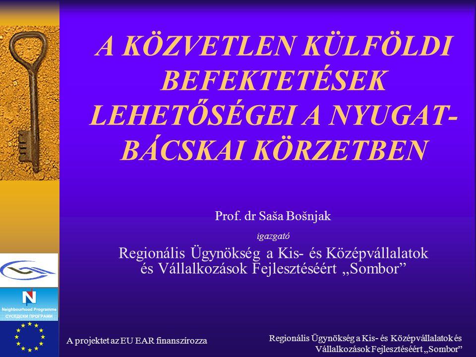 """A projektet az EU EAR finanszírozza Regionális Ügynökség a Kis- és Középvállalatok és Vállalkozások Fejlesztéséért """"Sombor Miért Szerbia."""