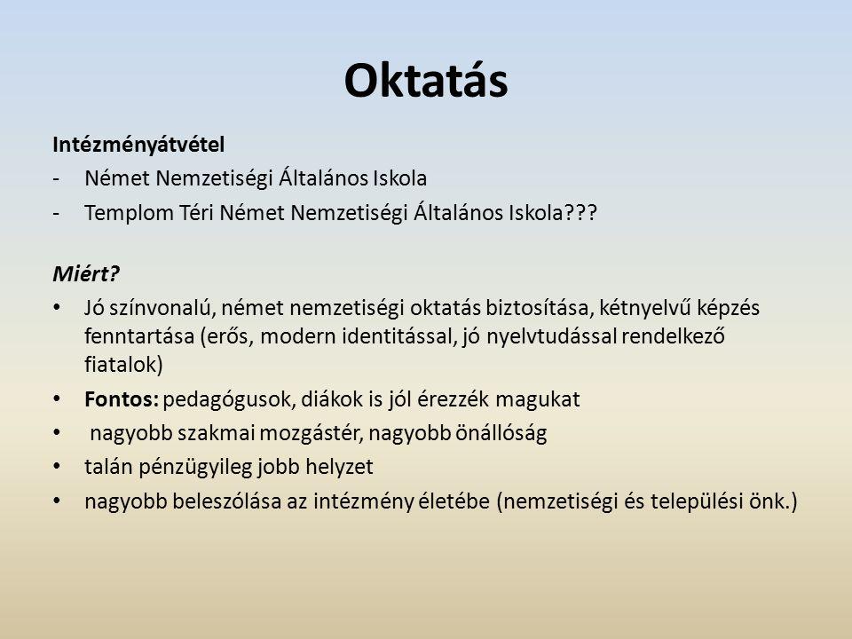 Oktatás Intézményátvétel -Német Nemzetiségi Általános Iskola -Templom Téri Német Nemzetiségi Általános Iskola .