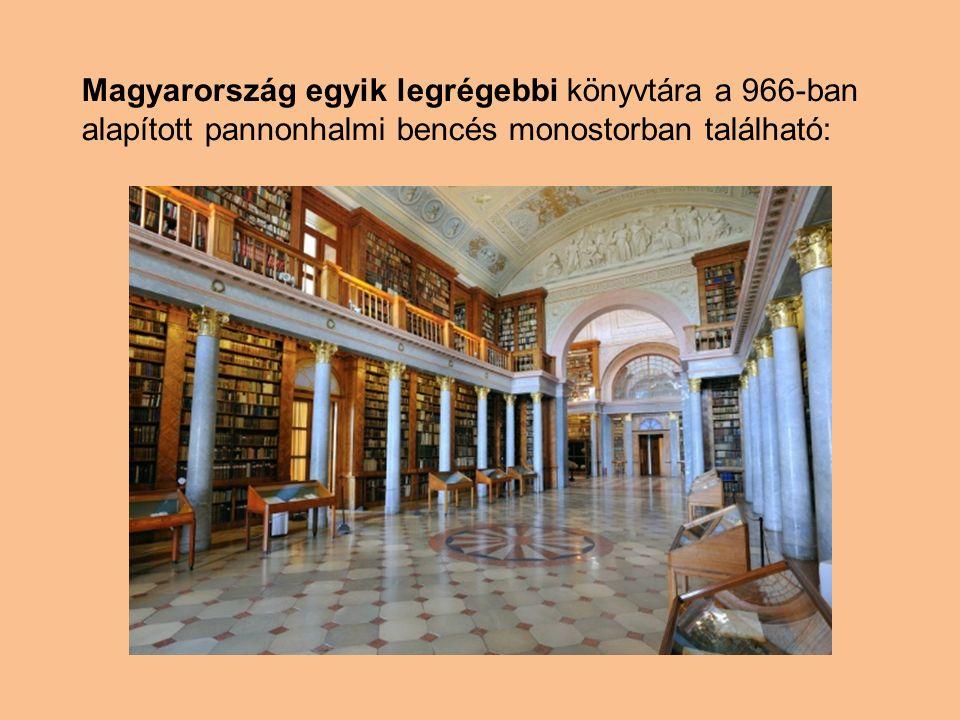 Magyarország egyik legrégebbi könyvtára a 966-ban alapított pannonhalmi bencés monostorban található: