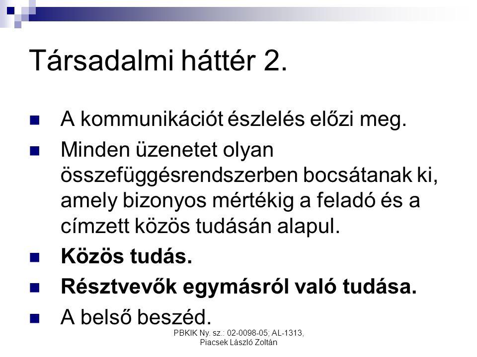 PBKIK Ny. sz.: 02-0098-05; AL-1313, Piacsek László Zoltán Társadalmi háttér 2.