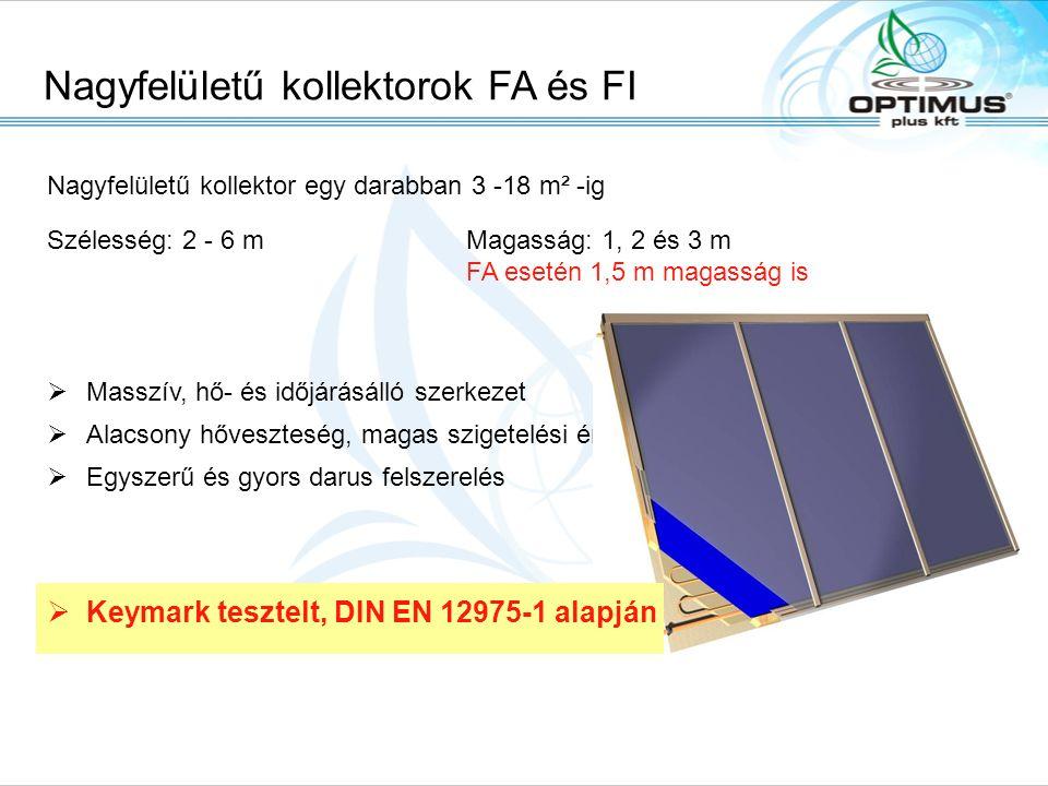 Nagyfelületű kollektorok FA és FI Solarpark, A-6306 Söll/Tirol, Fon: +43.(0)5333.2010, Fax: +43.(0)5333.201.100, Email: office@tisun.com, Web: www.tis